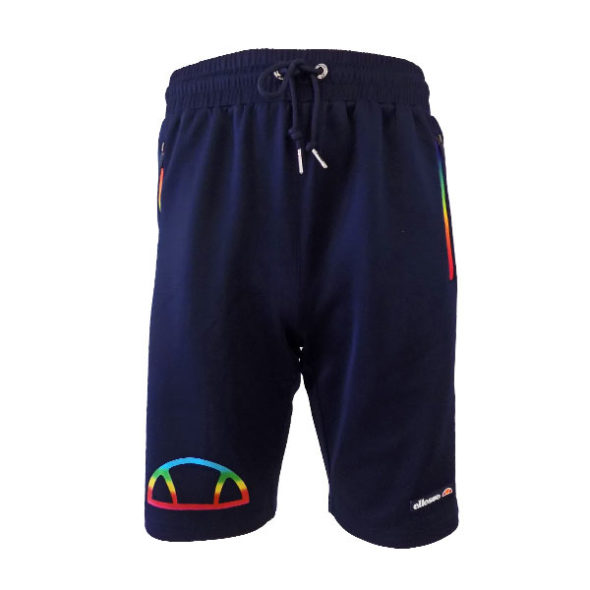 ELL543DB-ELLESSE-HERITAGE-RAINBOW-ZIP-SHORTS-DRESS-BLUE