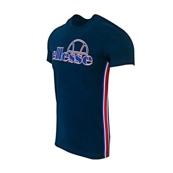 ellesse Heritage Side Detail Tshirt Dress Blue V2