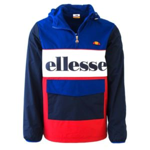 ellesse Heritage Colourblock Jacket Red Blue ELL338RB