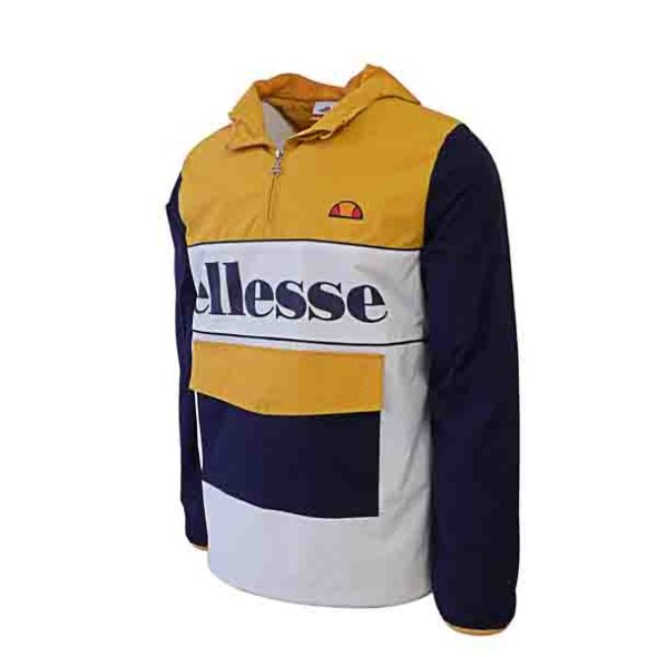 ellesse Heritage Colourblock Jacket White Orange ELL338WO V2