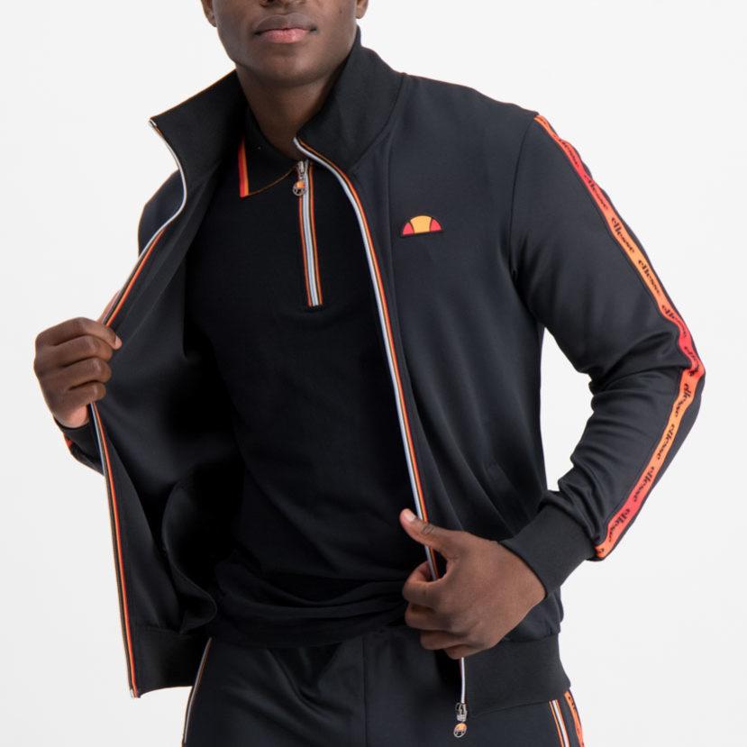 ellesse Jacket Black Red Orange