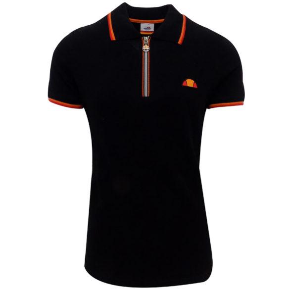 ellesse-Heritage-Pique-12-Zip-Golfer-Black-ELL723B