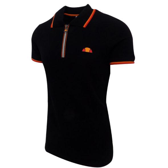 ellesse-Heritage-Pique-12-Zip-Golfer-Black-ELL723B-V2