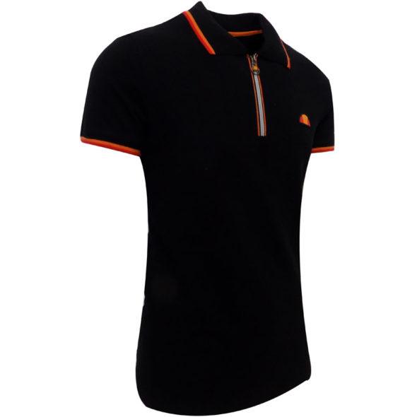 ellesse-Heritage-Pique-12-Zip-Golfer-Black-ELL723B-V3