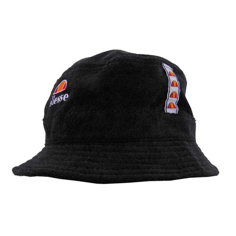 ELL317B-ELLESSE-TOWELLING-BUCKET-HAT-BLACK-ELS16-037C