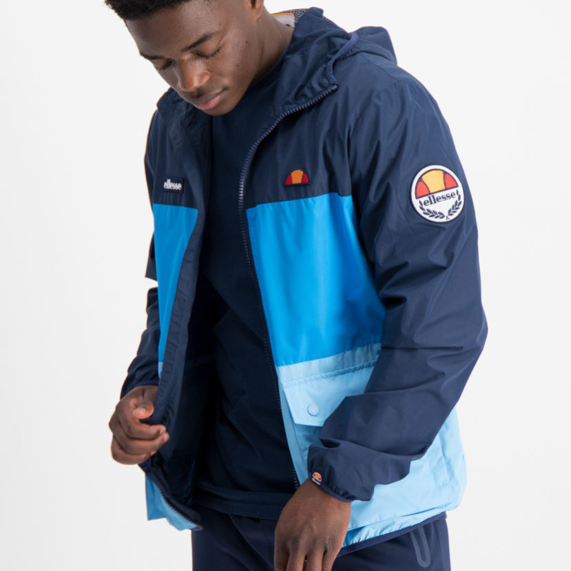 ellesse Trio Full Zip Hooded Jacket Navy