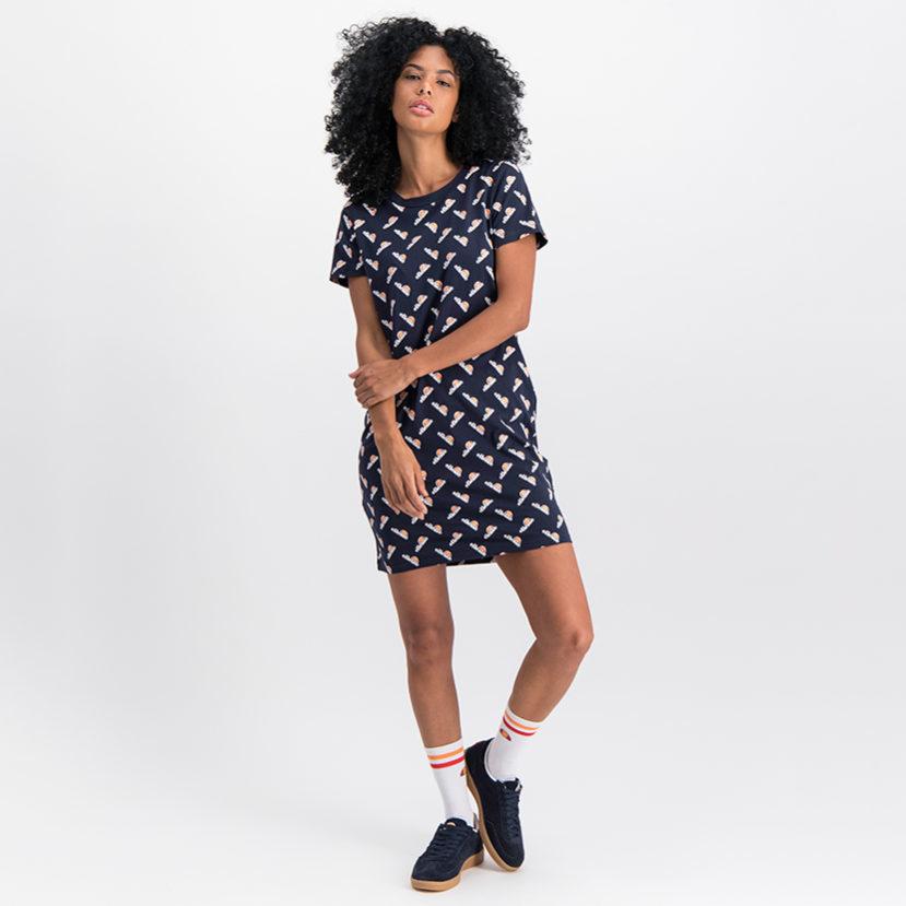 ELL746N ellesse Dress Oversized T-Shirt Navy ELS19-920AL (4)