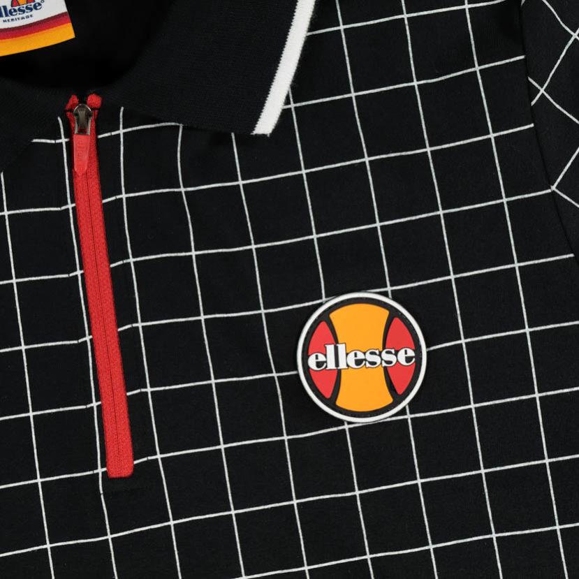 ELL604B ellesse Tennis Ball 12 Zip Golfer Black ELW19534A