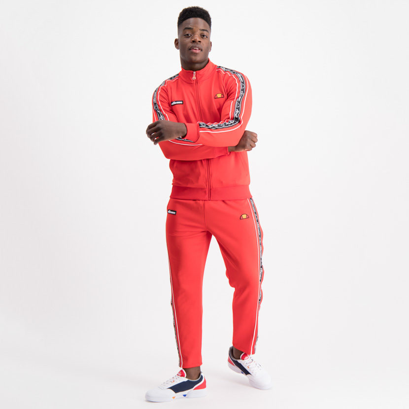 ELL645R ellesse Taped Button Tracksuit Red ELW19-572D