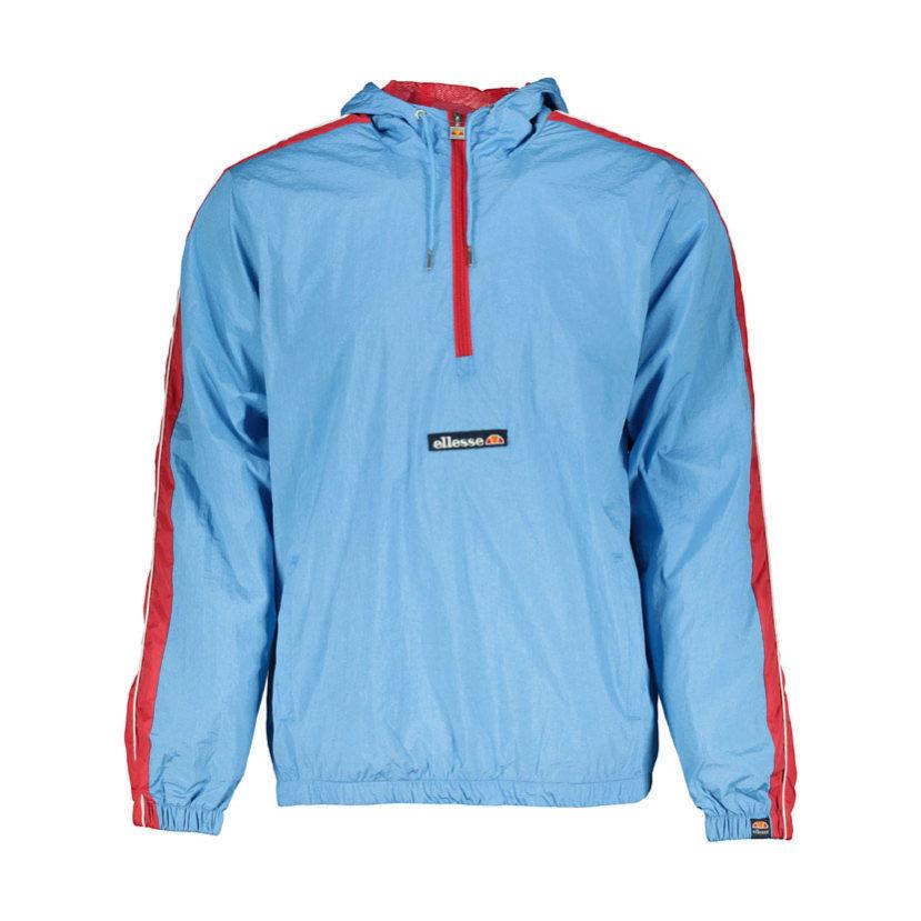 ELL695LB ellesse 12 Zip Hooded Woven Jacket Lightweight Blue SHA06410