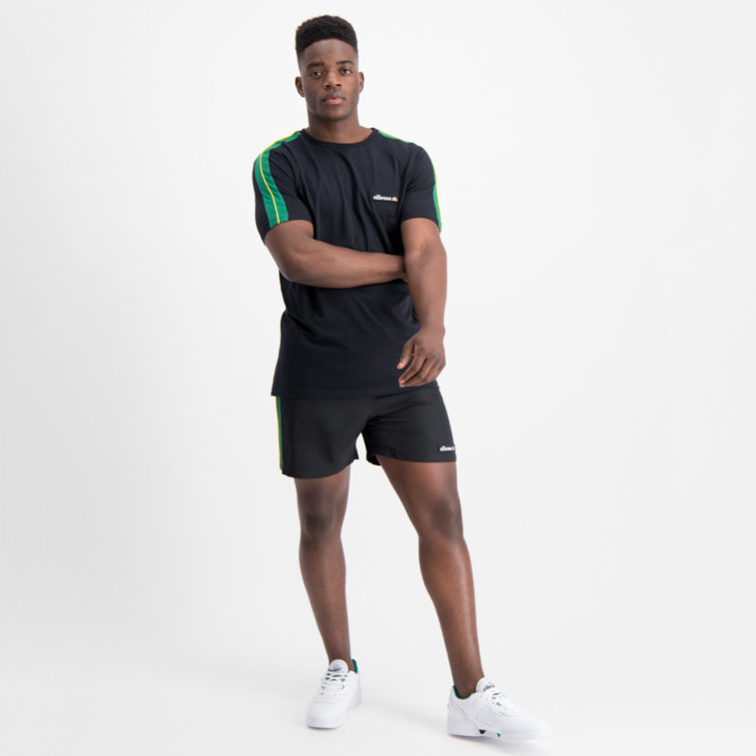 ELL700B ellesse Shorts Black Green SHA06413