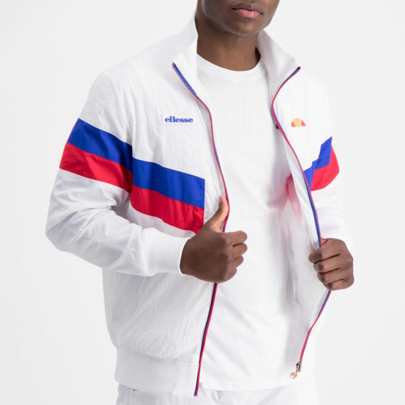ellesse Chevron Parachute Jacket White