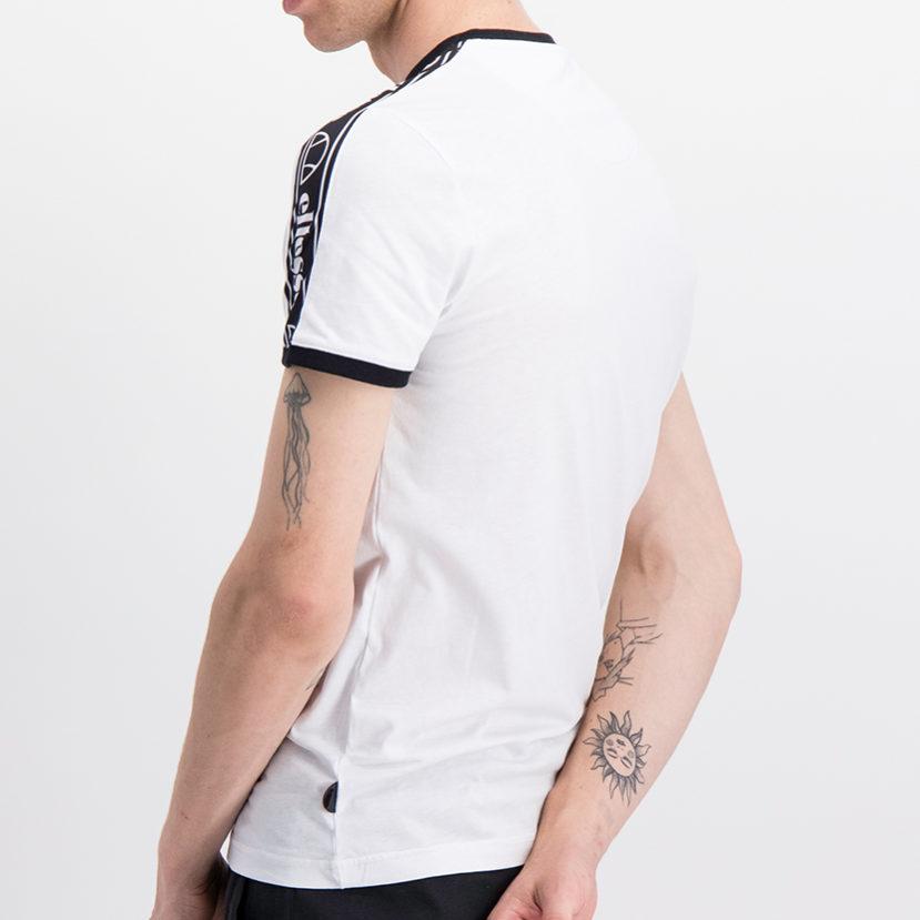 ELL716W ellesse Insert T-shirt White Black ELS19-608A