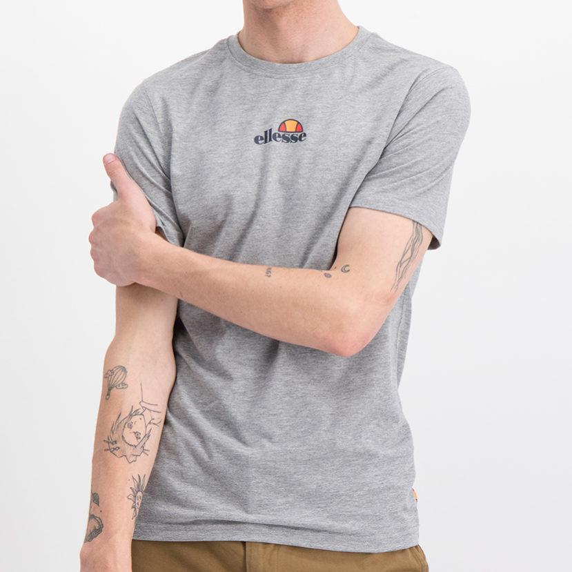 ELL717G ellesse New Back Print Logo T-shirt Grey ELS19_745A