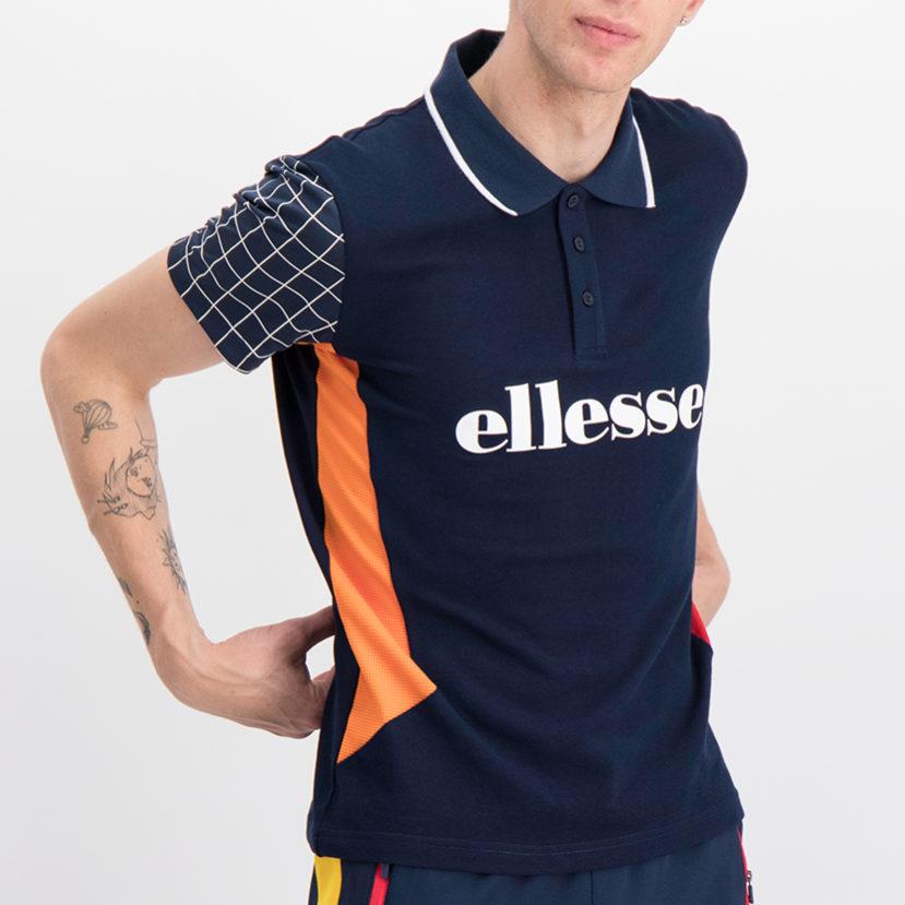 ELL762DB ellesse Fashion Golfer Dress Blue Orange ELS19-621A