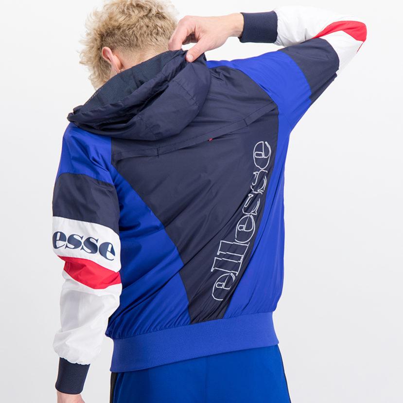 ELL763DB ellesse Split Colour Hooded Windrunner Jacket Dress Blue ELS19-704A (1)