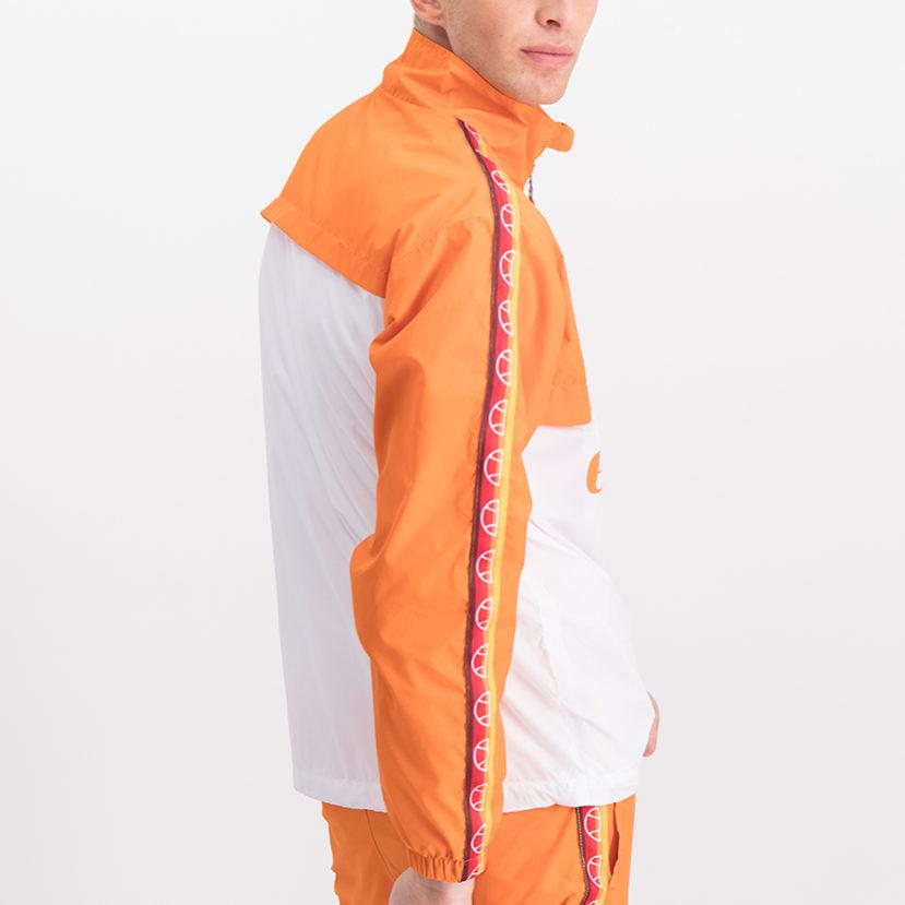 ELL765O ellesse 12 Zip Ombre Sleeve Detail Colourblock Jacket Orange ELS19-751A