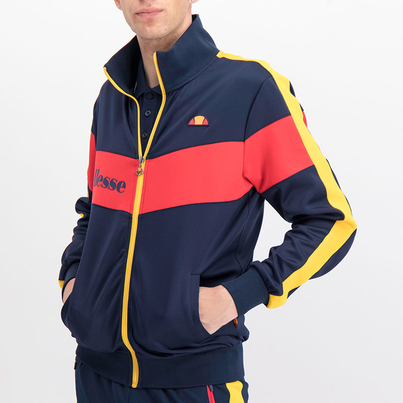ELL766DB ellesse Tricot Jacket Dress Blue Red ELS19-625A