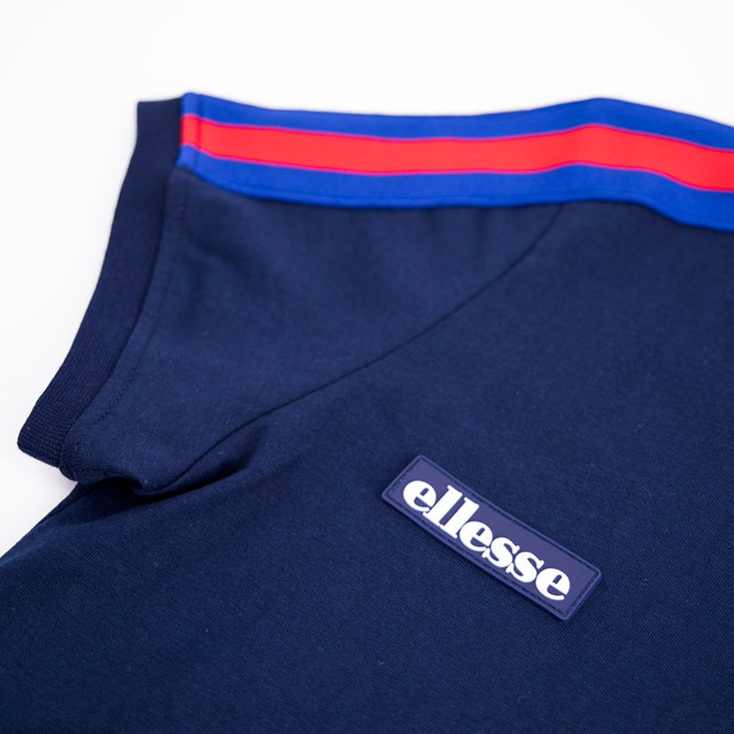 ELL772YBL ellesse Panel Detail T-shirt Kids Dress Blue Red ELS19-711AB