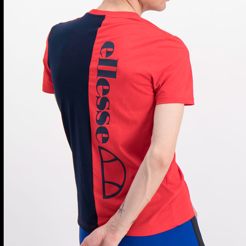 ELL778DB ellesse Back Print T-shirt Dress Blue Red ELS19-610A