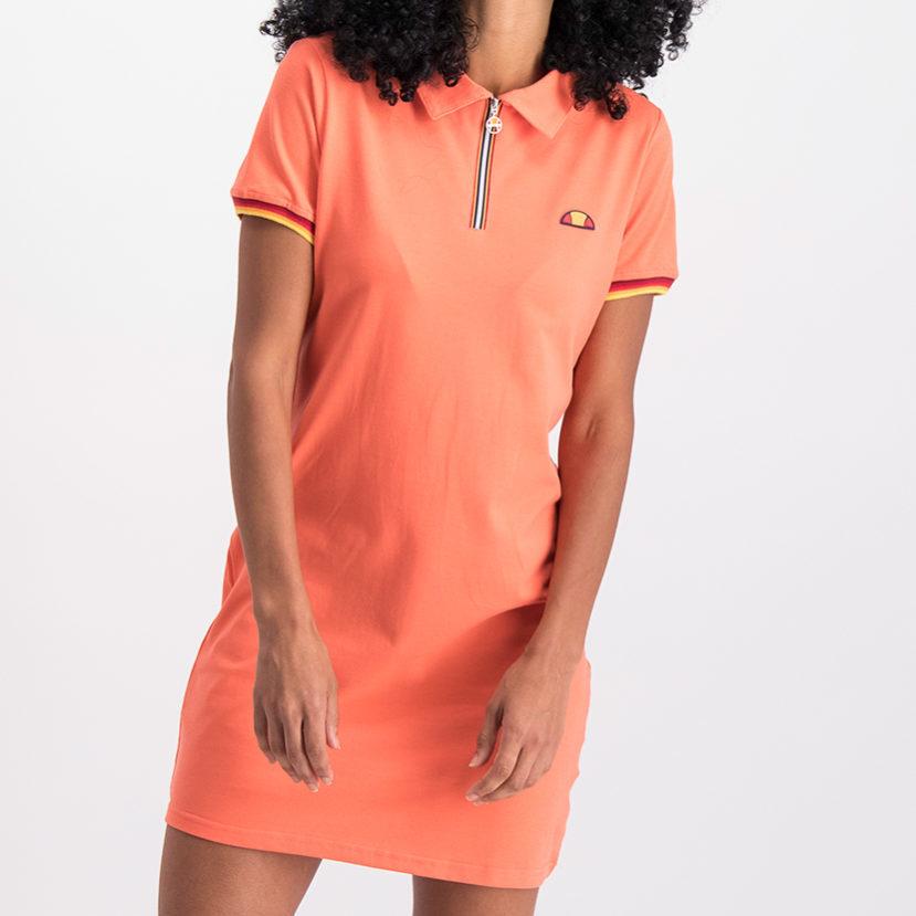 ELL780C ellesse 12 Zip Golfer Dress Coral ELS19-916AL