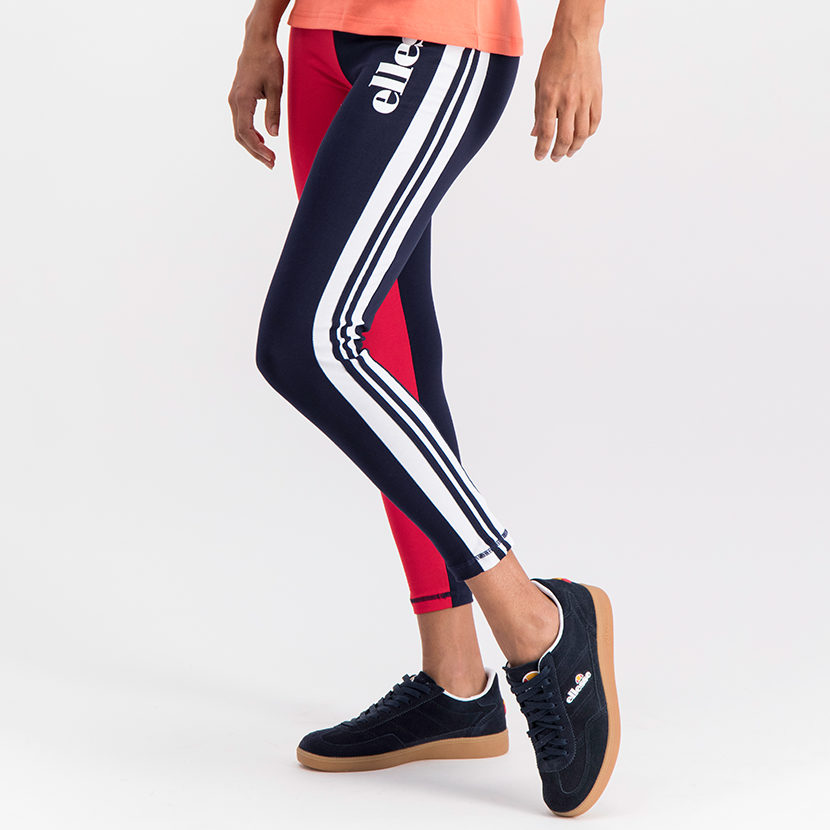 ELL784NR ellesse Colourblock Leggings Navy Red ELS19-904BL