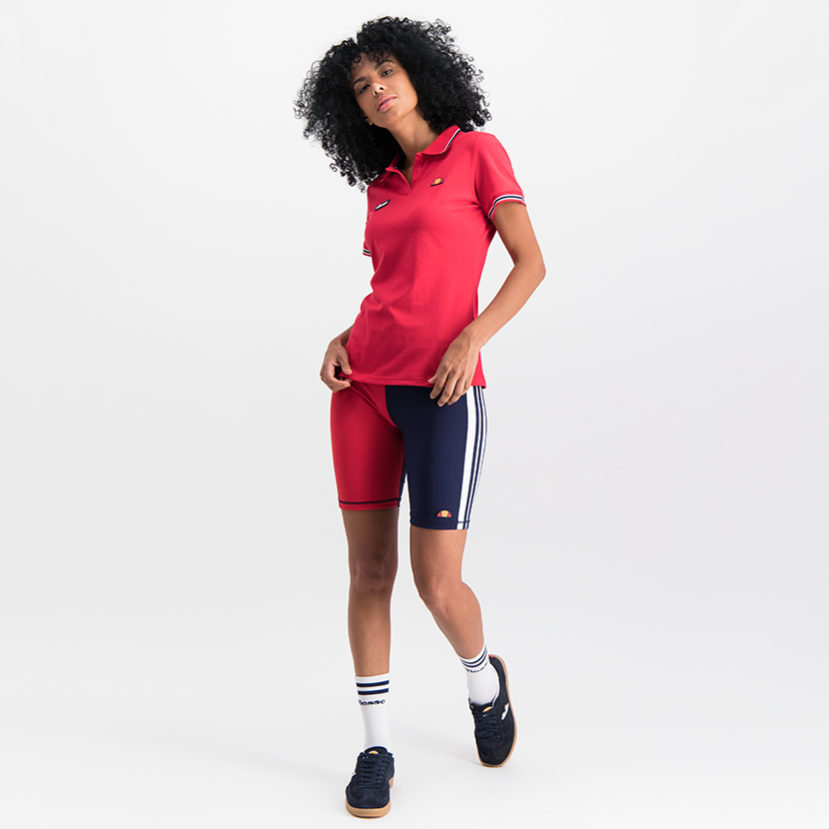 ELL785NR ellesse Colourblock Cycle Shorts Navy Red ELS19-905BL (1)