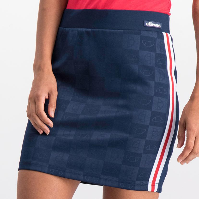 ELL787N_ ellesse AOP Tape Detail Skirt Navy ELS19-911BL