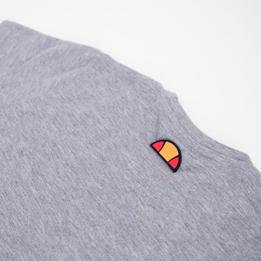 ELL792YG ellesse Logo Panel T-shirt Kids Grey ELS19-604AB