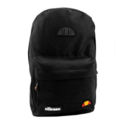 ELL953B ELLESSE FRONT ZIP RUBBER BADGE BACKPACK BLACK ELW20 011C