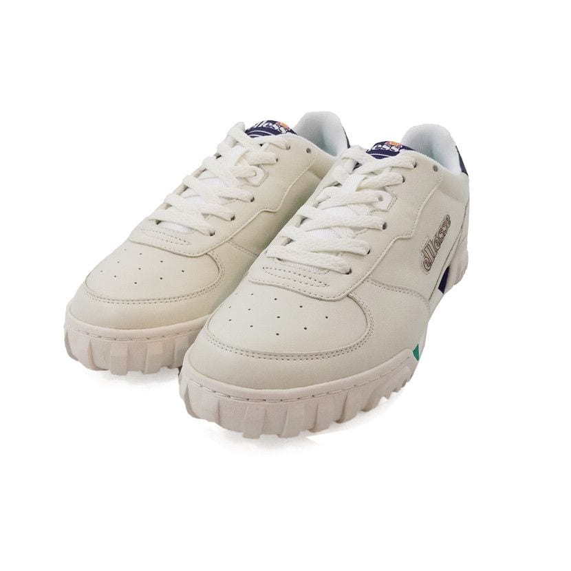 ellesse tanker lo leather mens off white dark blue ell929ow a27