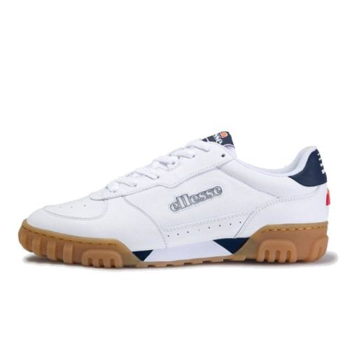 ellesse tanker lo leather mens white dark blue gum ell929w 73c