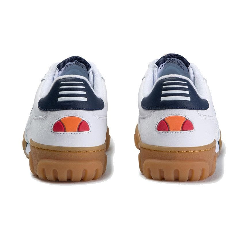ellesse tanker lo leather mens white dark blue gum ell929w 81c