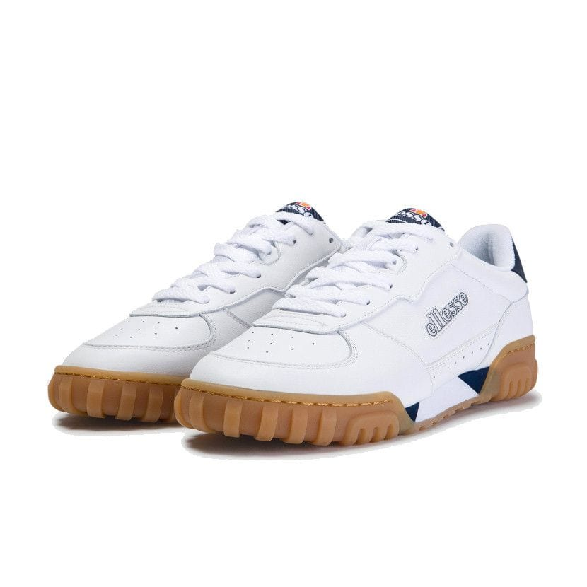 ellesse tanker lo leather mens white dark blue gum ell929w dde