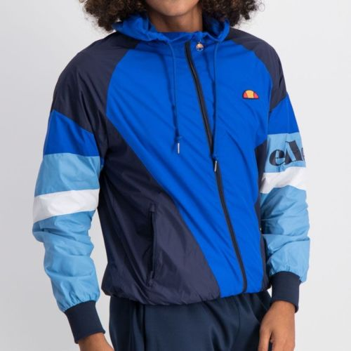 ELL763DB ELLESSE SPLIT COLOUR HOODED WINDRUNNER JACKET MENS DRESS BLUE ELS19 704A 5