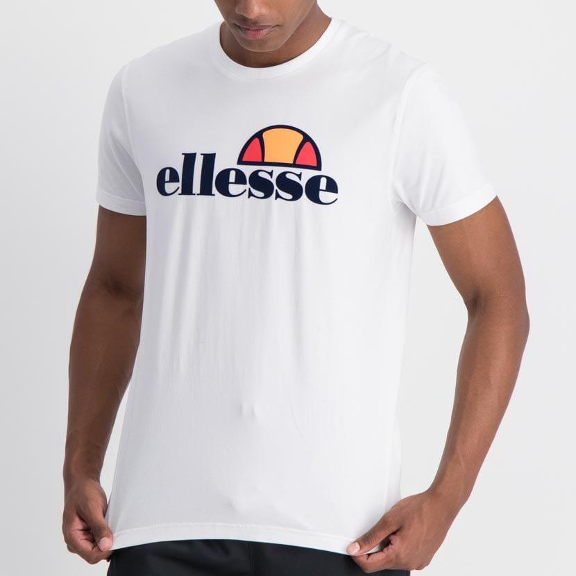 ELL842W ELLESSE LARGE CHEST FLOCK PRINT T SHIRT WHITE ELW20 009A2 14