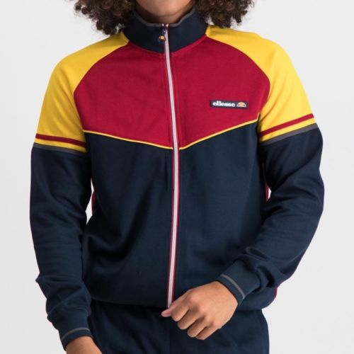 ELL855CP ELLESSE SPLIT PANEL COLOUR ZIP JESERY CHILLI YELLOW NAVY ELW20 061A 2
