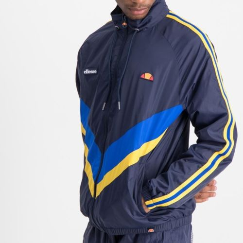 ELL856DB ellesse Light Weight Chevron Tape Jacket Mens Dress Blue ELW20 063A 8