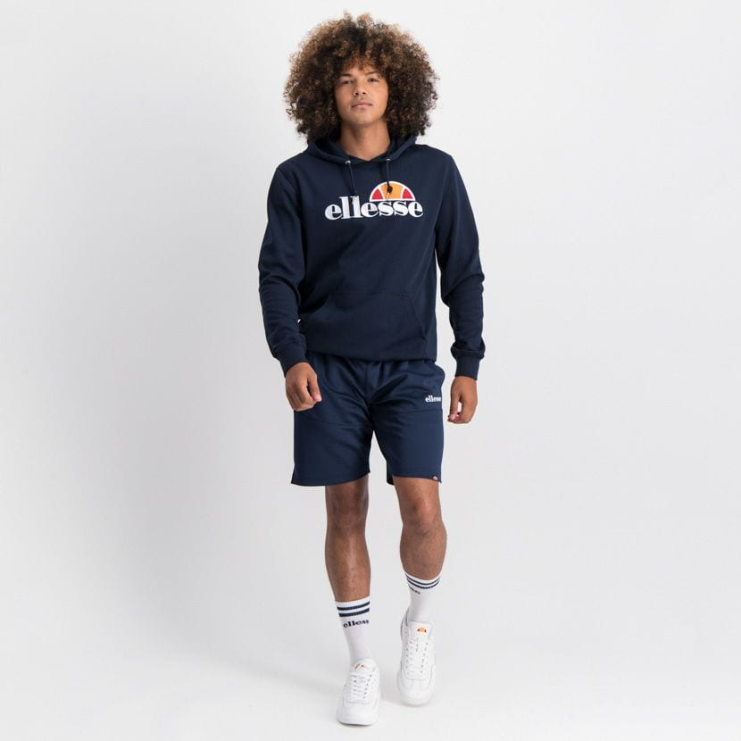 ELL862DB ELLESSE PULLOVER HOODIE LARGE CHEST EMBROIDERED LOGO ELW20 002A 2