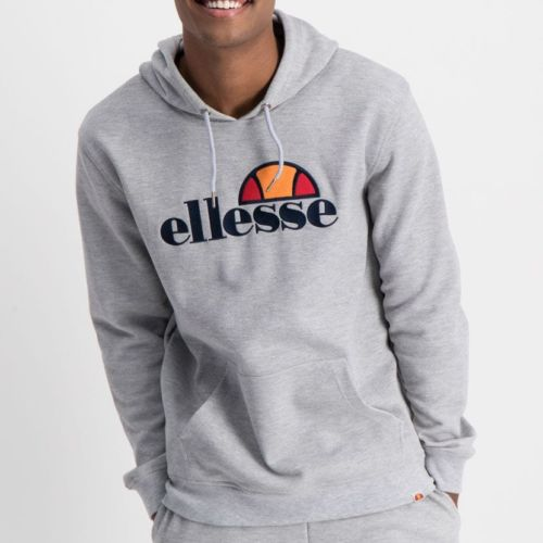 ELL862G ELLESSE PULLOVER HOODIE LARGE CHEST EMBROIDERED LOGO GREY ELW20 002A 7