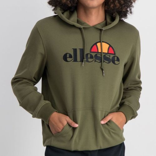 ELL862OL ELLESSE PULLOVER HOODIE LARGE CHEST EMBROIDERY LOGO MENS OIVE ELW20 002A 8