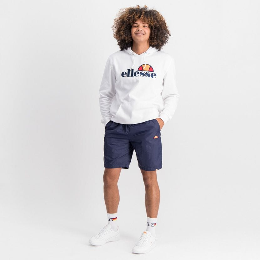 ELL862W ELLESSE PULLOVER HOODIE LARGE CHEST EMBROIDERED LOGO WHITE ELW20 002A 3