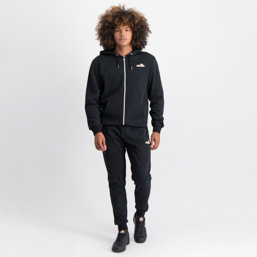ELL864B ELLESSE ZIP UP HOODIE SMALL CHEST EMBROIDERED LOGO BLACK ELW20 003A 5