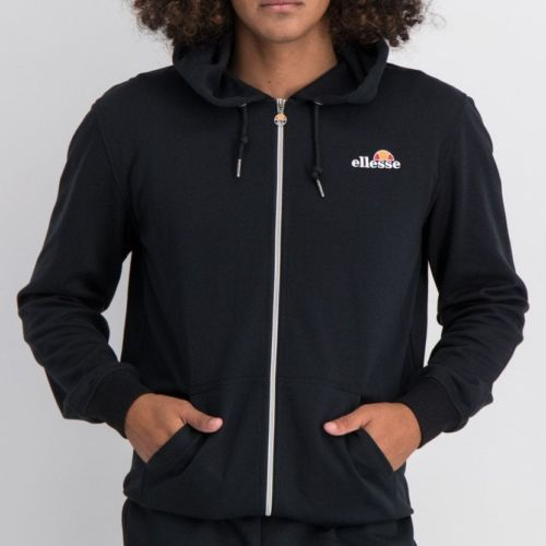 ELL864B ELLESSE ZIP UP HOODIE SMALL CHEST EMBROIDERED LOGO BLACK ELW20 003A 6
