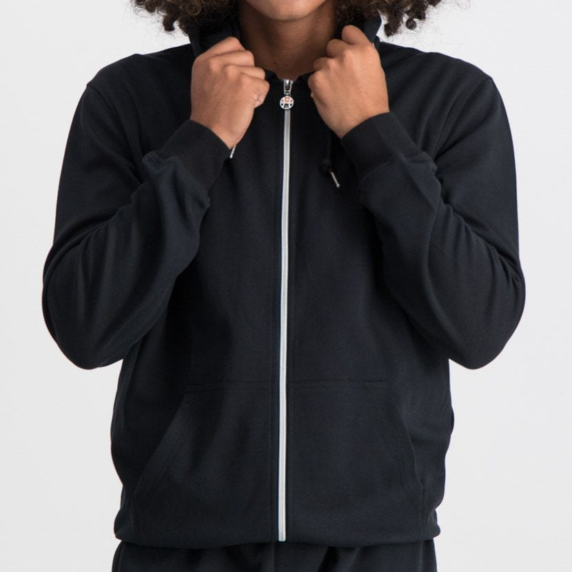 ELL864B ELLESSE ZIP UP HOODIE SMALL CHEST EMBROIDERED LOGO BLACK ELW20 003A 8