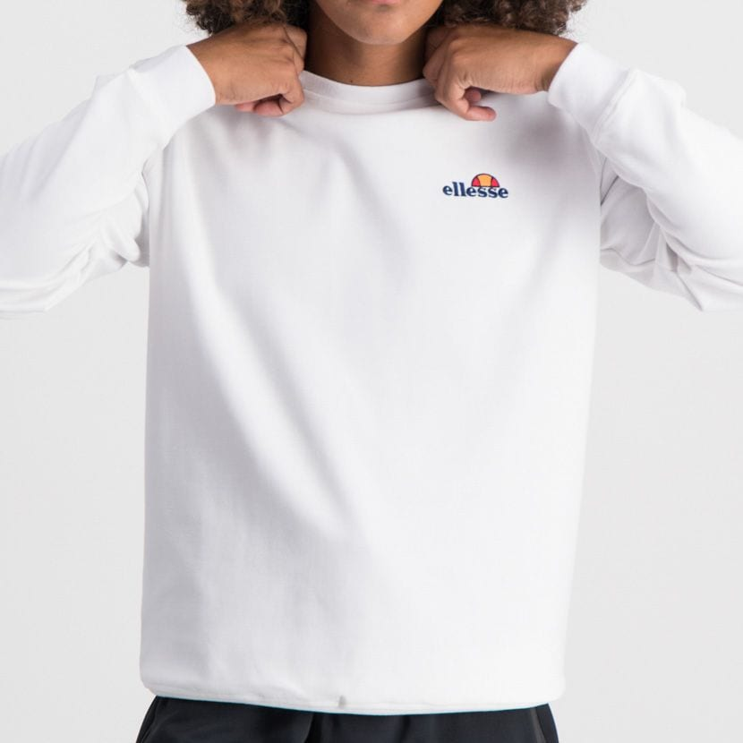 ELL865W ELLESSE SWEATSHIRT SMALL CHEST EMBROIDERED LOGO WHITE ELW20 003A 6