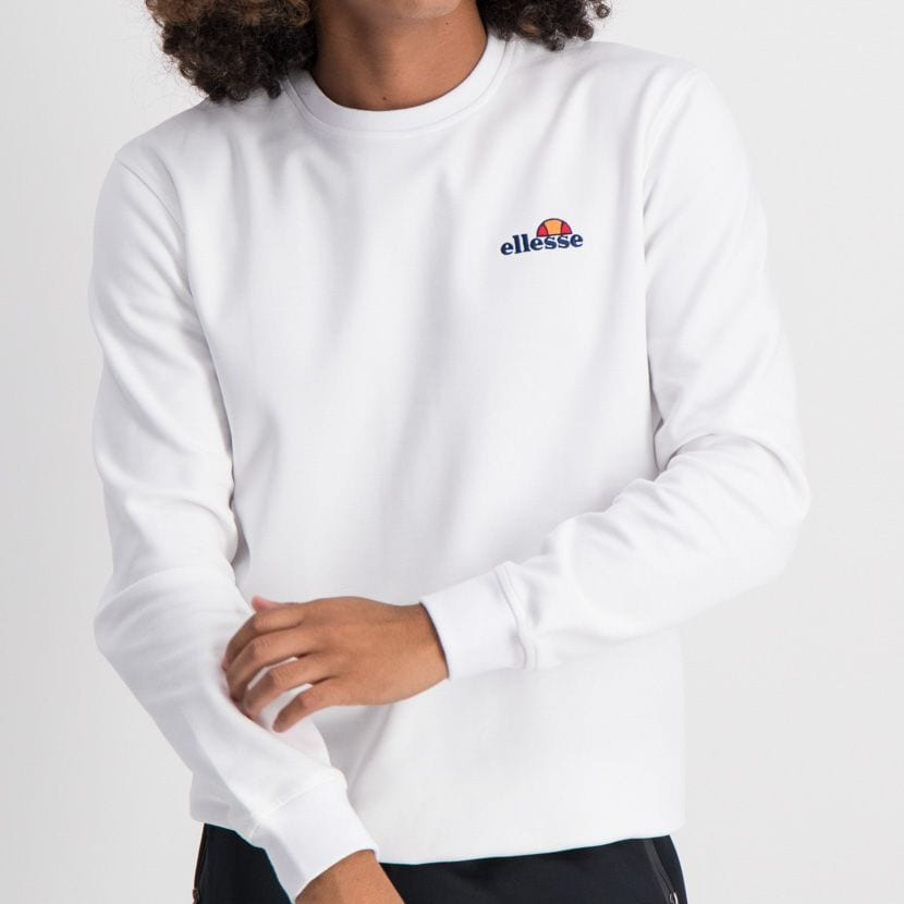 ELL865W ELLESSE SWEATSHIRT SMALL CHEST EMBROIDERED LOGO WHITE ELW20 003A 7