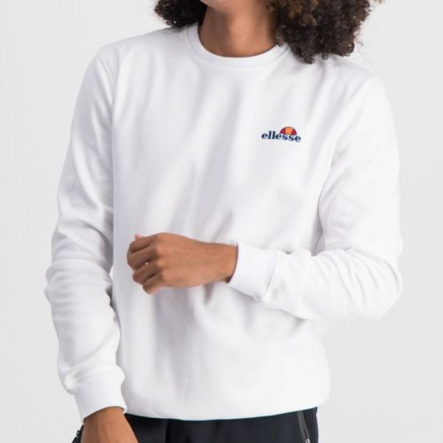ELL865W ELLESSE SWEATSHIRT SMALL CHEST EMBROIDERED LOGO WHITE ELW20 003A 8