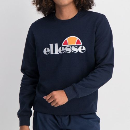 ELL866DB ELLESSE SWEAT TOP LARG CHEST EMBROIDERED LOGO DARK BLUE ELW20 004A 16 6