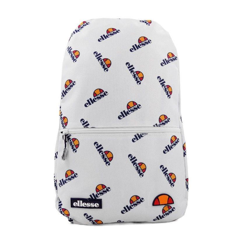 ellesse all over print backpack white ell951w 444
